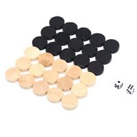 30Pcs Checkers Chess Piece for Kids Board Game Learning Camping With 2pcs DicCRI