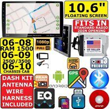 "06-10 Ram 10.6"" Navigation Bluetooth Usb Aux Cd/Dvd Car Radio Stereo Package"
