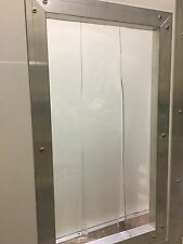 WEATHERPROOF DOG KENNEL CLEAR PLASTIC STRIP DOOR 500mm Wide x 700mm Long