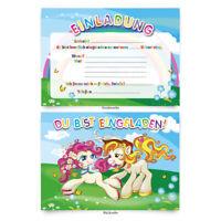 """Einladungen (8 Stück) """"Pony"""" zum Geburtstag Einladungskarten Karten"""