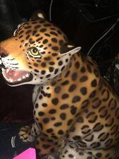 Glass Cheetah Statue
