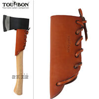 Vintage Leather Axe Handle Guard Collar Holster Haft Ax Cover Protector-TOURBON