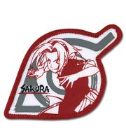 Naruto Shippuden Sakura Leaf Iron Patch Boruto Anime Manga Cosplay Licensed NEW