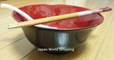 Ramen Bowl With Spoon & Chopsticks Japanese Noodle Soup Udon Yakisoba - JAPAN