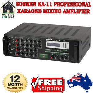 Sonken KA-11 Professional Karaoke Mixing Amplifier Stereo 170+170WRMS New