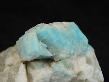 A Few! Bright BLUE Amazonite Crystals With SMOKY Quartz! From Colorado 78.1gr