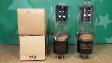 Pair of RCA 2A3 NOS NIB Black Plate 1940s Vacuum Tubes - Gm & Ip matched