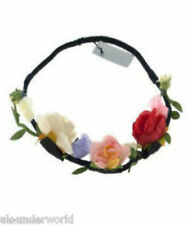 Flower Hair Garland Forehead Headband Boho Rose Floral Wedding Festival Wear