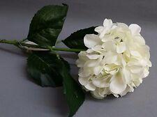 NEW Artificial Hydrangea Flower Ivory Green Leaf Stem WEDDING HOME Bridal Decor