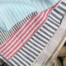 Yarn Dyed Stripe 100% French Linen Fabric half meter 280cm Width