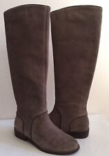 UGG GRACEN MOUSE TALL LEATHER EQUESTRIENNE BOOTS US 7 / EU 38 / UK 5.5 - NIB