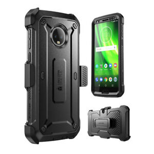 For Moto G6 Case, SUPCASE Full-Body Rugged Holster Cover with Screen Protector