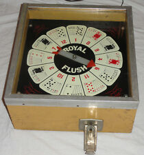Vintage Royal Flush 5cent Arcade Video Game Nickle Machine Card Game