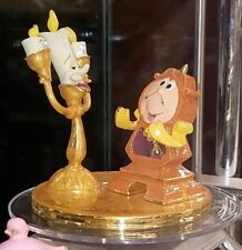 New Disney Parks Arribas Lumiere & Cogsworth Enamel Figure! Beauty & The Beast