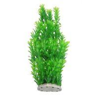 40cm Plastic Green Leaves Underwater Plants Decoration for Aquarium CX