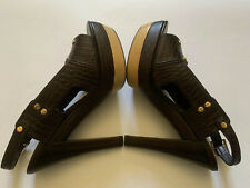 New Tory Burch Brown Leather Platform Heels sz. 6.5M