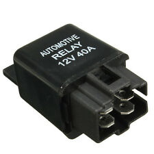 Black 40A 40 AMP 12DM Car Auto Automotive Van Boat Bike 4 Pins SPST Alarm Relay