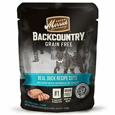 Premium Merrick Backcountry Grain Free Real Meat Wet Cat Food, 3 (24) 3 oz....