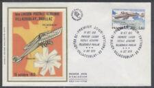 FRANCE FDC - A 51 1 1er VOL POSTAL - VILLACOUBLAY 14 Octobre 1978 -LUXE sur soie