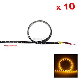 10x Yellow Flexible Strip Light Waterproof 60 1210 SMD LED M034