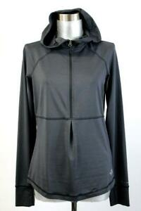 THE NORTH FACE Gray FLASH DRY HALF ZIP Jacket Hooded Pullover Athletic Womens S