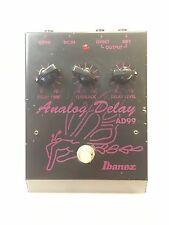Ibanez AD99 Stereo Analog Delay Rare Vintage Guitar Effect Pedal MIJ Japan