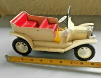 "Vintage 1917 Ford Tin Friction Toy Car Model T roadster Made in Japan 9"" 1950's"