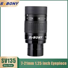 "Svbony Sv135 1.25""Zoom Eyepiece 7mm to 21mm Fmc 6-Element 4-Group Optical Design"