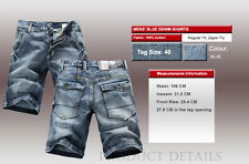 Mens FOXJEANS Denim Men's Blue Jeans Shorts Size 40