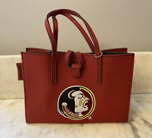 "FSU Florida State Seminoles Purse by Alan Stuart Game Day Licensed Bag 7"" x 9.5"""