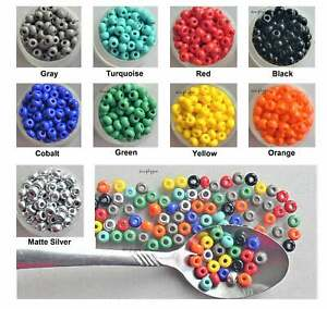 2/0 Czech Large Hole Beads 47 Pcs 10g Glass Seed Beads UR PICK