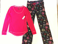 NWT Joe Boxer Sleepwear Women's Dreaming Pajama Set Shirt Pants Size Small Pink