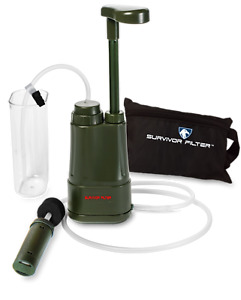 Survivor Filter PRO Pump - Virus and Heavy Metal Tested 0.01 Micron Water Filter