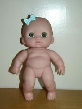 """Berenguer Lil Cuties Baby Doll Blue Bow Blue Eyes 9"""""""