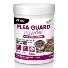 VetIQ Flea Guard Powder 60g - Natural Flea Tick Repellent Dogs Cats Puppy Kitten