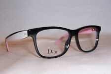 NEW CHRISTIAN DIOR EYEGLASSES CD 3290 LWR BLACK WHITE PINK 52mm RX AUTHENTIC