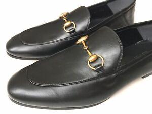 GUCCI Mens Brixton Horsebit Leather Loafers Folding Heel Sz 8.5 UK (9 US) $750