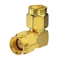 4pcs SMA male to SMA male plug right angle in series RF Coax adapter connector