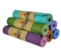 ECO Friendly Exercise Yoga Mat Pilates Fitness Workout Physio Gym Non Slip UK