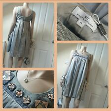 DAY BIRGER ET MIKKELSEN UK8 ♡100% DUPION SILK♡ Net a Porter Embelished Dress VGC