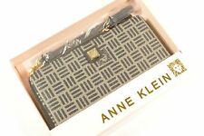 Anne Klein AKM2465 Black Signature Continental Zip Wallet