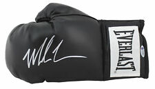 Mike Tyson Authentic Signed Black Everlast Boxing Glove w/ Silver Signature BAS
