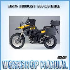 BMW F800GS F 800 GS BIKE WORKSHOP SERVICE REPAIR & OWNER'S MANUAL IN DVD