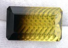 31.65 Carat Concave Bi Color Citrine / Smoky Quartz Gemstone Gem Stone Natural