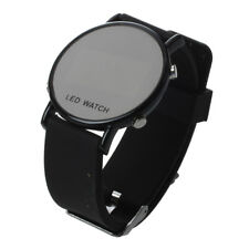 Silikon LED Armbanduhr Damenuhr Herrenuhr Sport Armband Uhr schwarzes Uhrban Q7O