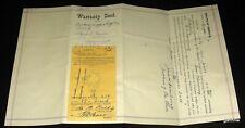OAKLAND OREGON 1925 IOOF UMPQUA LODGE CEMETERY GRAVE PLOT WARRANTY DEED * NEVES