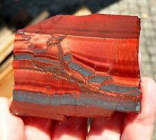 rawk11: Dragons Eye Tiger Eye slab-Chatoyant Red & Black Hematite-S Africa!
