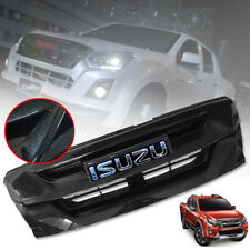 BLACK CARBON FRONT GRILL GRILLE LOGO CHROME FOR ISUZU DMAX D-MAX 2015 16 17 18