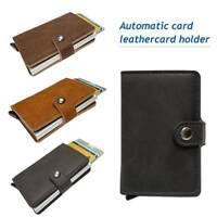 Leather Business Credit Card Holder Money Wallet Clip Cash Holder Purse