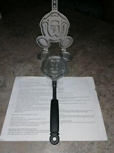 Disney mickey mouse cast iron waffle iron maker